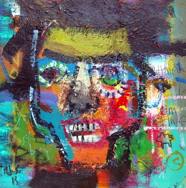 Basquiat head 1 by francis boag