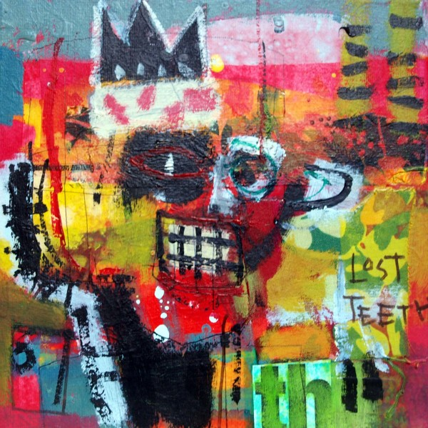 Basquiat head 2 by francis boag