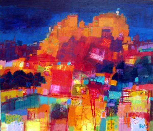 Edinburgh Castle Evening by francis boag