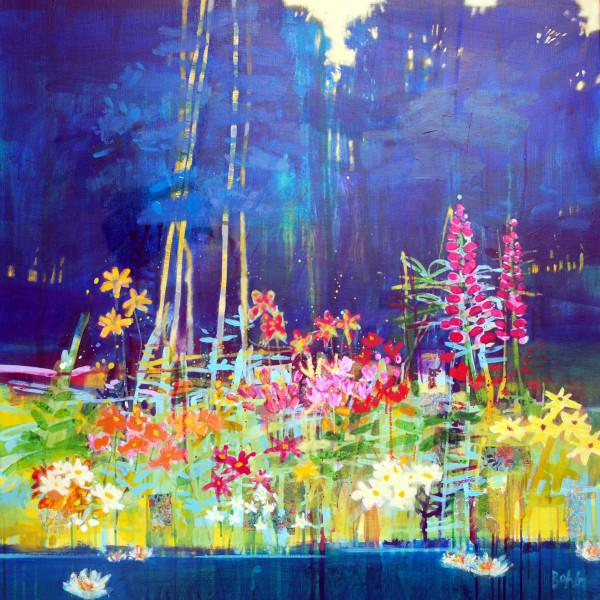 Summer pond Ury by francis boag