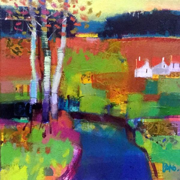 Riverbank Trees, Ury by francis boag