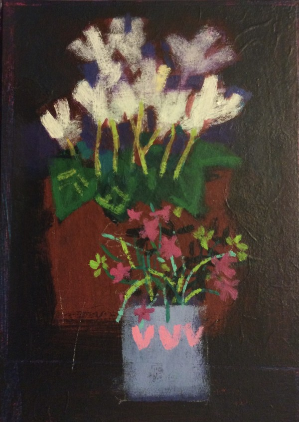 Cyclamen and wild flowers by francis boag