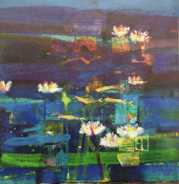 Spring pond Ury by francis boag