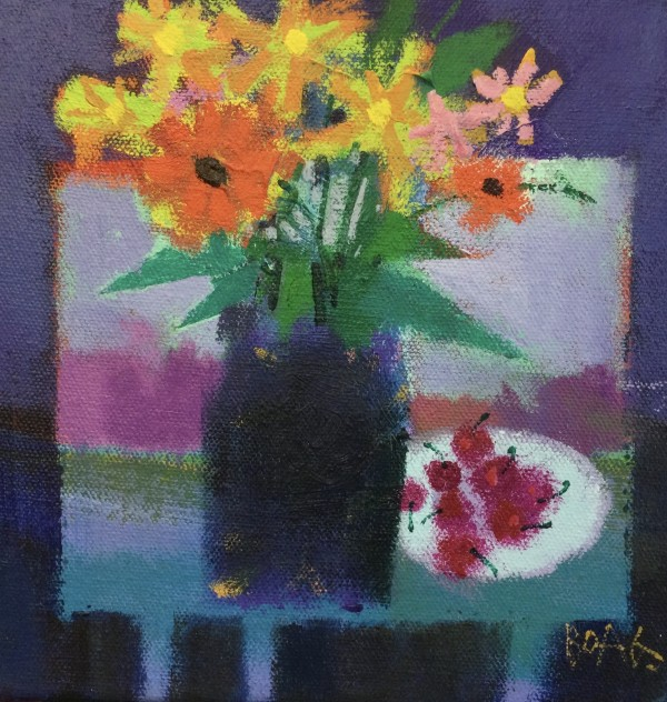 Flowers and cherries by francis boag