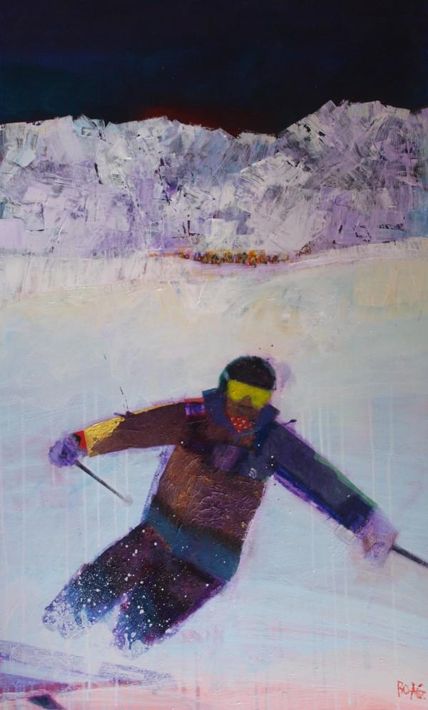 Big skier by francis boag