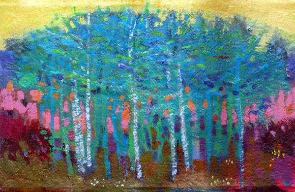 Blue trees by francis boag