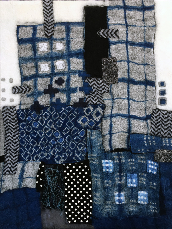 Black and Blue Boroscape III by Lisa Hinrichs