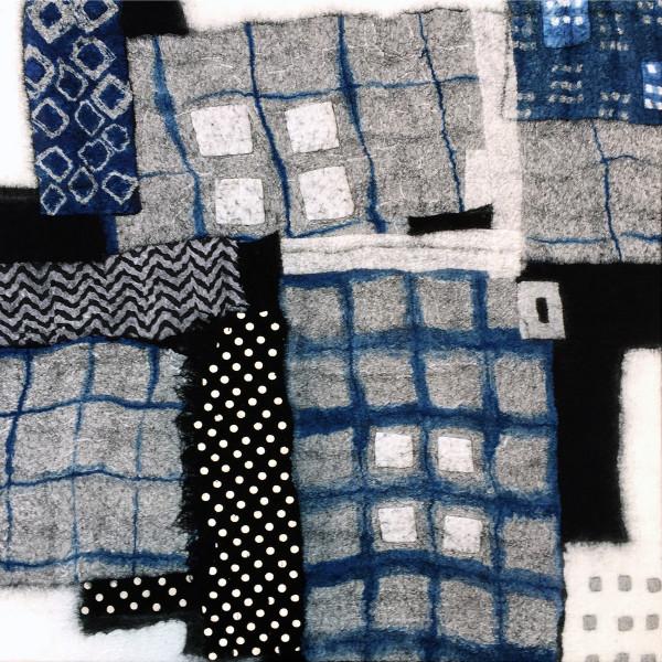 Black and Blue Boroscape I by Lisa Hinrichs