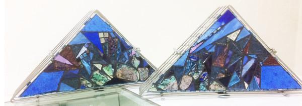 Blue Glaciers (pair) by Andrea L Edmundson