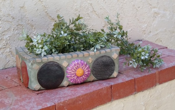 Flower Spot (planter/door stop) by Andrea L Edmundson