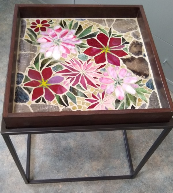 Fuschia Flora (table) by Andrea L Edmundson