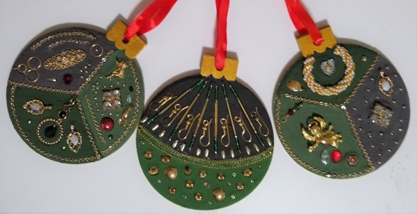 Holiday Ornaments (Set of 3) by Andrea L Edmundson