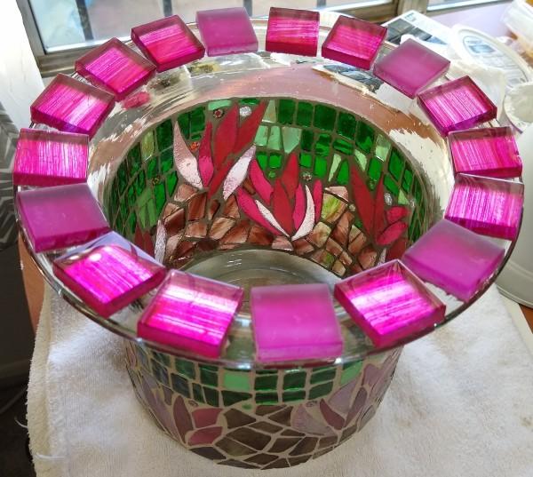 Pink Cactus Flowers (planter/vase) by Andrea L Edmundson