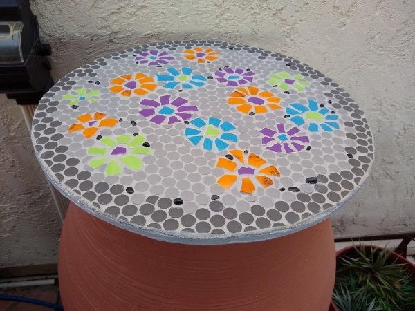 Rain Flowers (pair, barrel covers) by Andrea L Edmundson