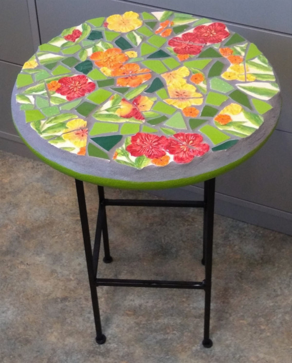 Vibrancy (side table) by Andrea L Edmundson