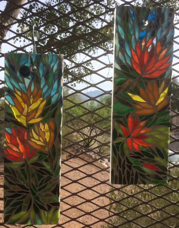 Desert Poppies (pair) by Andrea L Edmundson