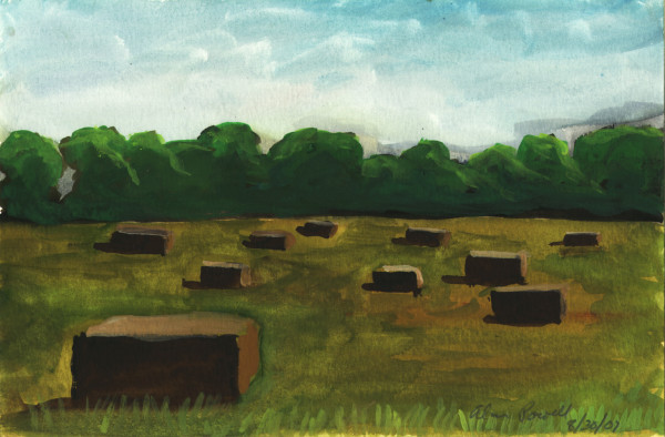 August 31, 2007; Hay Bails  by Alan Powell