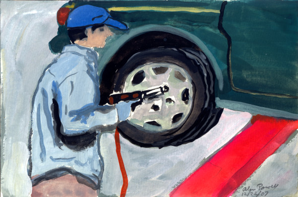 December 22, 2007 Filling Tires  by Alan Powell