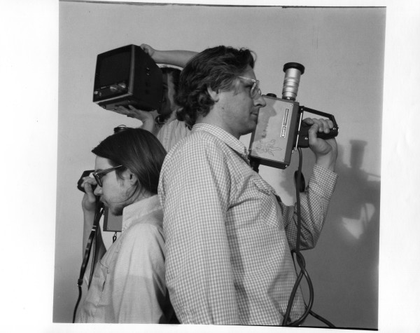Dennis and Bob in A video shoot out 1975 by Alan Powell