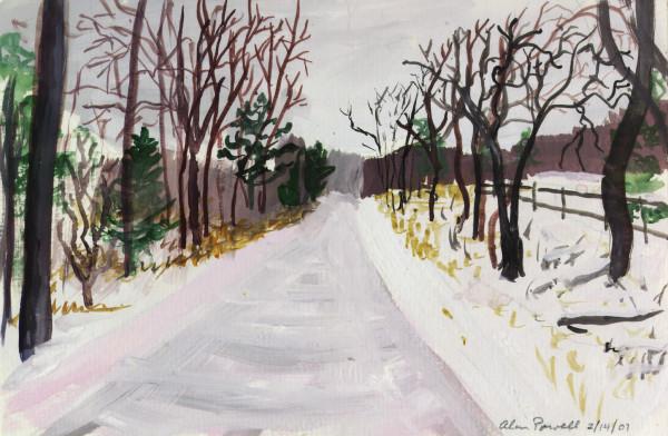 February 14, 2007 Snow on Iron Bridge Rd by Alan Powell