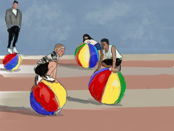 Shore Core - On Top Of Beach Balls by Alan Powell