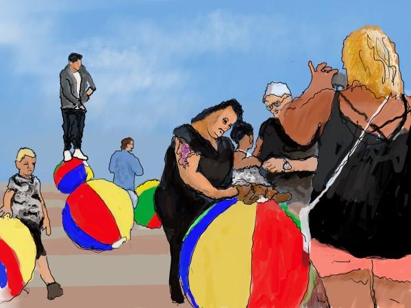 Shore Core - Beach Ball Admiration by Alan Powell