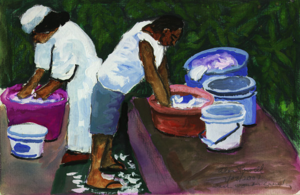 January 8, 2007 - Washing Clothes Trinidad by Alan Powell