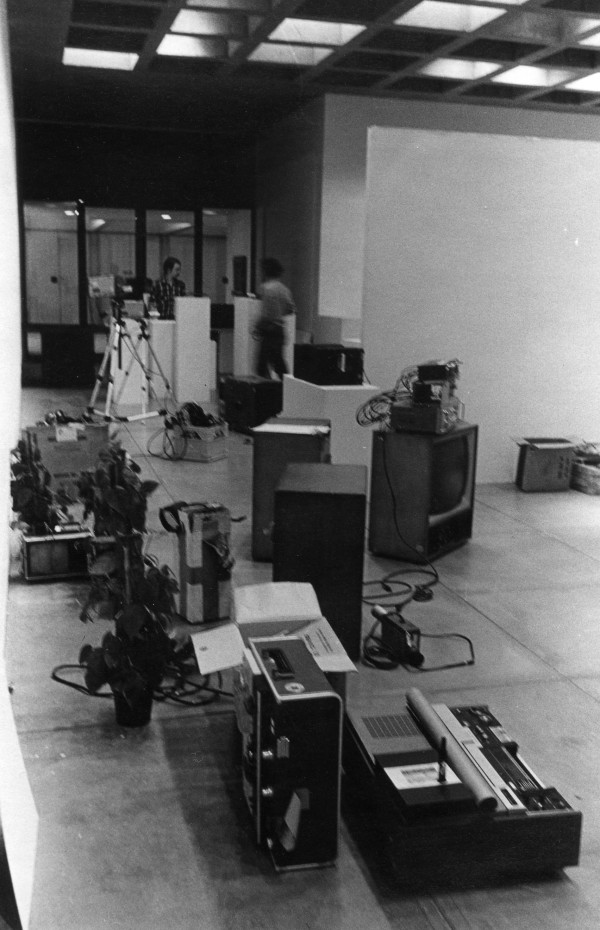 Equipment for Video Maze, Everson Museum of Art 1975 by Alan Powell