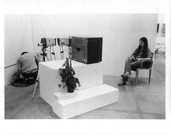 Alan & Laurie setting up Video Maze, Everson Museum of Art 1975 by Alan Powell