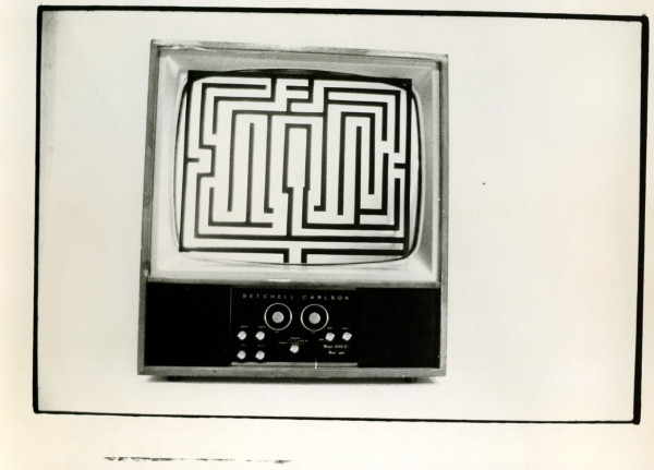 Monitor for Video Maze, Everson Museum of Art 1975 by Alan Powell