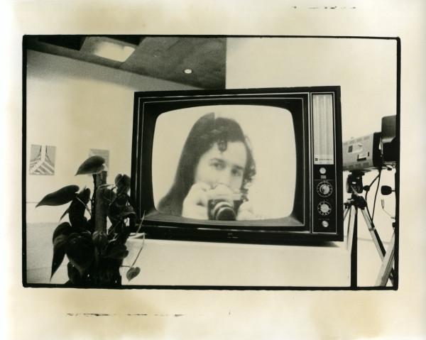 Split Screen, talking Plants, Video Maze, Everson Museum of Art 1975 by Alan Powell