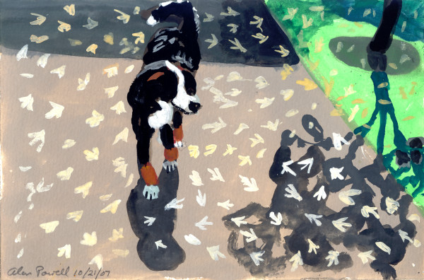 October 21, 2007; Dog on a Walk  by Alan Powell
