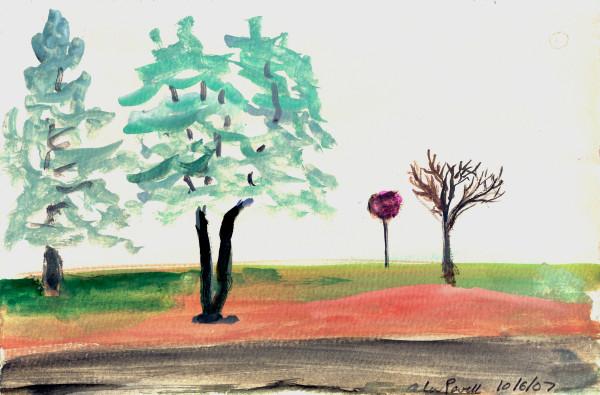 October 6, 2007; Roadside Trees by Alan Powell