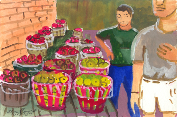 October 8, 2007; Buying Fruit in the Grange by Alan Powell