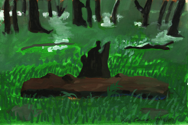 September 14, 2007; Log in the Woods by Alan Powell