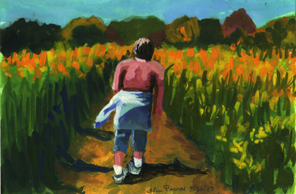 September 30, 2007; Walking Through Fields by Alan Powell