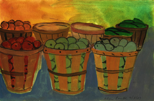 September 5, 2007; Apple and Pear Buckets by Alan Powell