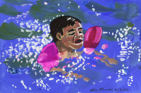 September 9, 2007; Swimming Lesson by Alan Powell