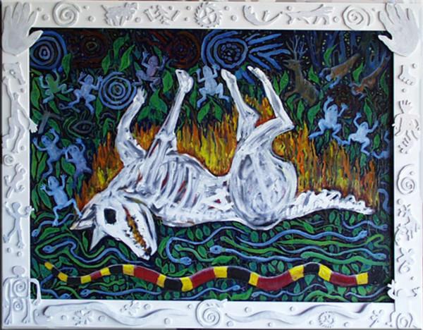 Burning White Dog by Alan Powell