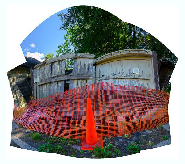 Fallen Garage by Alan Powell