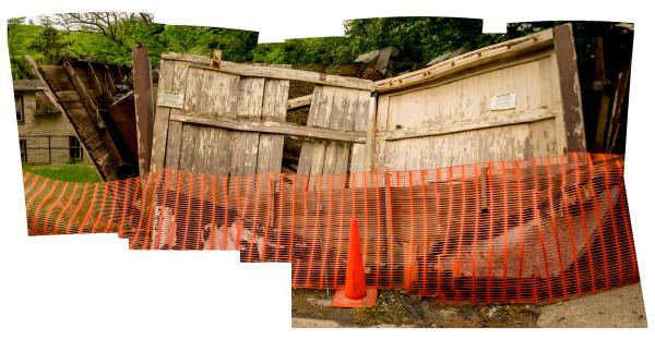 Fallen Garage Landscape by Alan Powell
