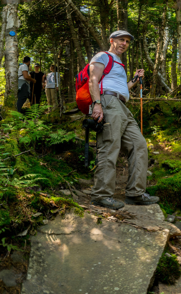 Joe on Trail by Alan Powell