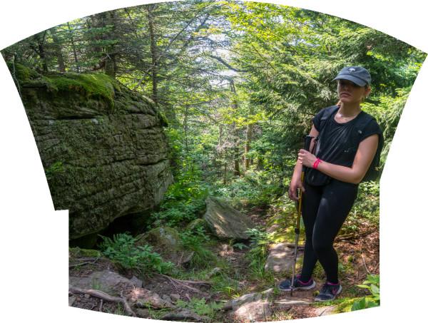 Juliana on a Hike by Alan Powell