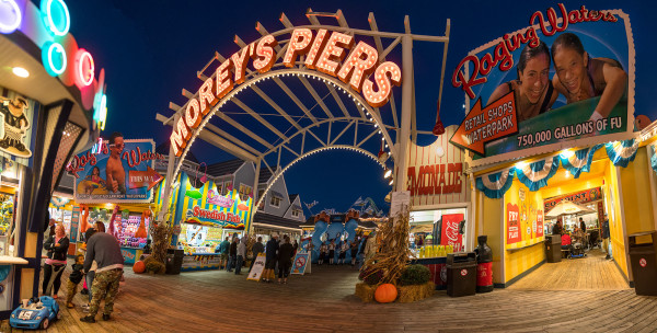 Morey's Piers at Night by Alan Powell