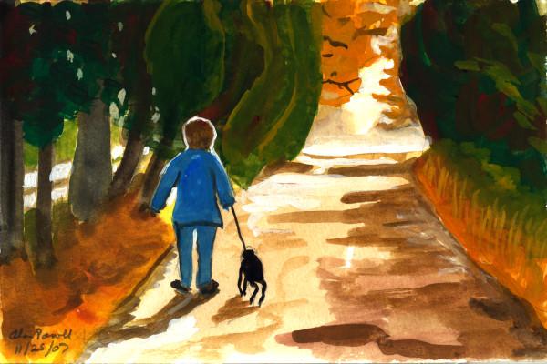 November 25, 2007; BJ on a Walk  by Alan Powell
