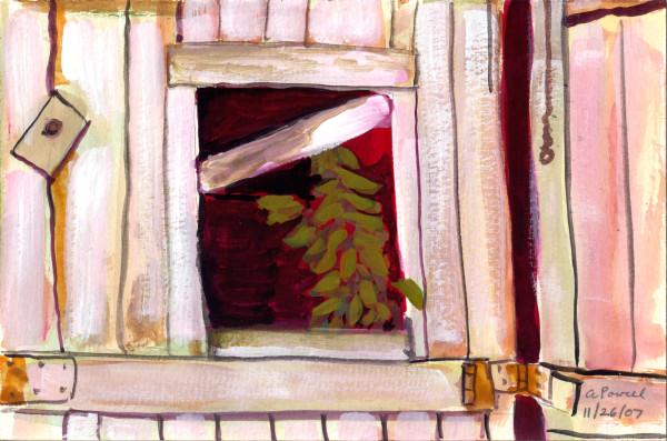 November 26, 2007; Barn Door Window by Alan Powell