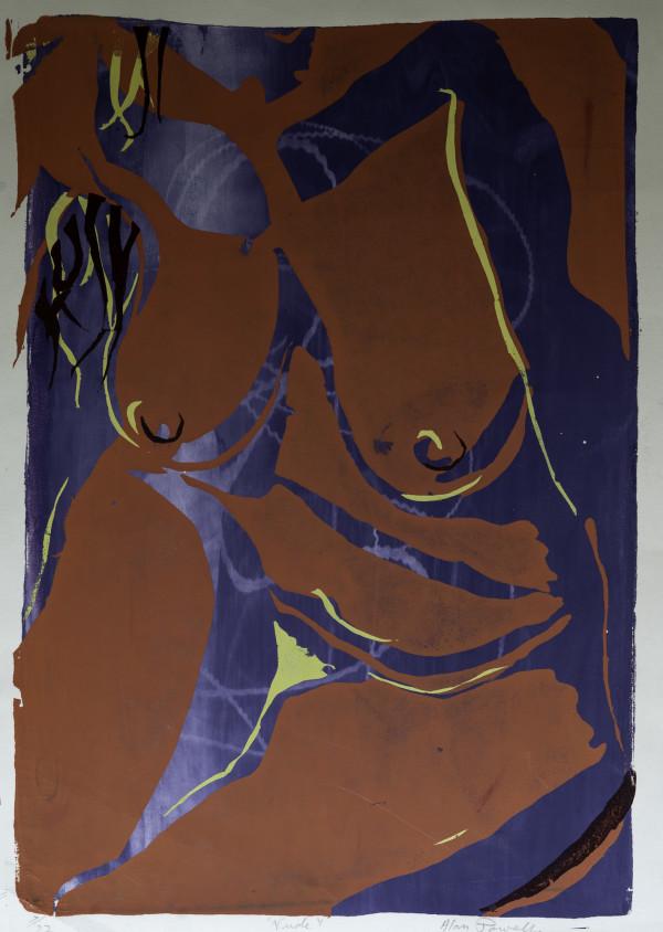 Nude Silkscreen by Alan Powell