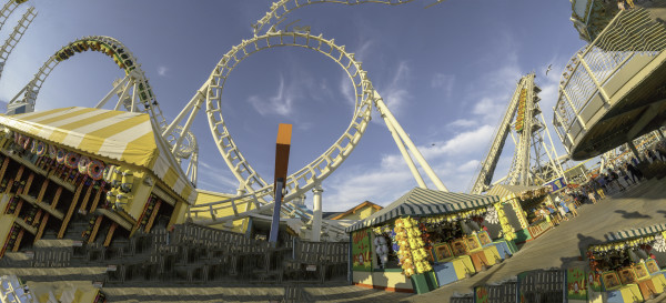 Roller Coaster at Morey's Piers by Alan Powell