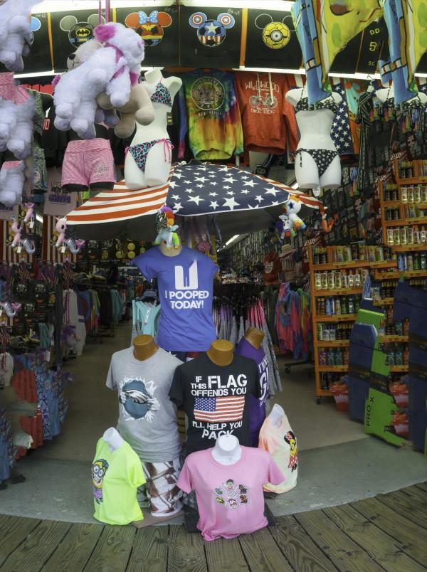 Tshirts on the Boardwalk, Wildwood NJ by Alan Powell
