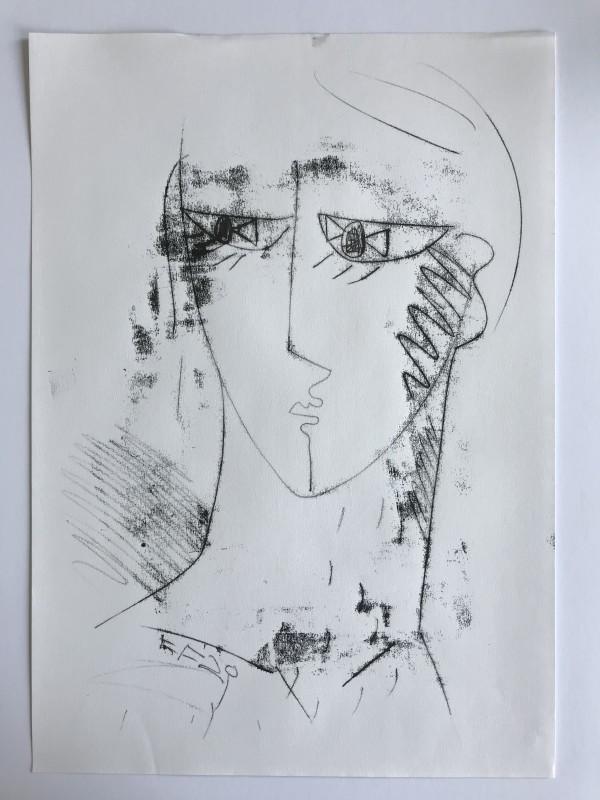 Male Head by Liz Foster